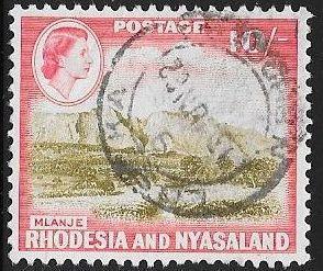 Rhodesia & Nyasaland 170 Used - Mlanje Mount