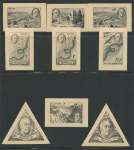 MONACO #198-202; B92; C14-14;CB6TCP  SET OF TRIAL COLOR PROOFS ON CARD WL9383