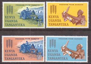 Kenya,Uganda,Tanz.  #136-39  MNH  (1963)  c.v. $1.95