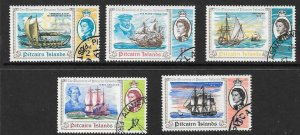 PITCAIRN ISLANDS SG64/8 1967 DISCOVERY OF PITCAIRN FINE USED