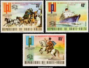Burkina Faso Scott 332-334, C189-C191 Mint never hinged.