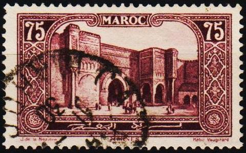 Morocco(French). 1917 75c S.G.140a Fine Used