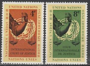 United Nations #88-9 MNH  (S1362)