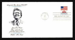 Carter 1977 Inauguration Cover / Plains GA Cachet & CDS - Z14563