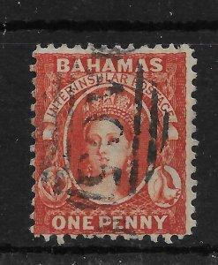 BAHAMAS SG40 1882 1d SCARLET-VERMILION p12 USED