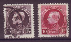 J21300 Jlstamps 1921-5 belgium hv,s of set used #168-9, king