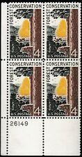 SCOTT # 1122 CONSERVATION PLATE BLOCK MINT NEVER HINGED GEM !!