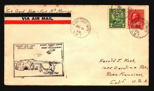 Canada 1929 FFC Ft Good Hope to Ft McMurray - Z17432