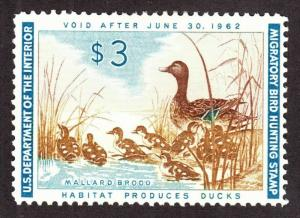 RW28 1961 Federal Duck Stamp F-VF OGNH Perfect Gum-No Faults-Ebay Low-OFFER? EX