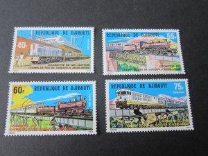 Djibouti 1979 Sc 485-8 Train set MNH