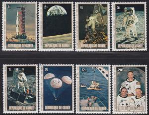 Guinea 807-814 CTO 1980 10th Anniv Man on the Moon SET