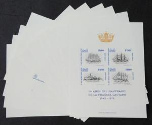 EDW1949SELL : CHILE 1975 Sc #472a Ships 10 VF copies of Special Souvenir cards.