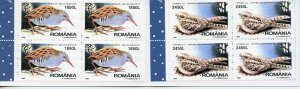ROMANIA BIRDS  COMPLETE UNEXPLODED BOOKLET  MINT NH