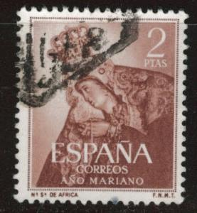 SPAIN Scott 812 Used from 1954 Marian Year set