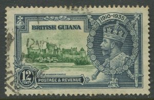 STAMP STATION PERTH British Guiana #225 Silver Jubilee 1935 Used CV$10.00