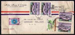 Lebanon to Janesville,WI 1969 Registered Cover