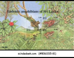 SRI LANKA - 2001 ENDEMIC AMPHIBIANS OF SRI LANKA / FROG - MIN. SHEET MNH