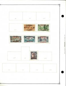 Lebanon 1924-1942 M & U Hinged on scott Blank Pages