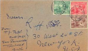 Trinidad 1/2d, 1d and 1 1/2d  KGV and Britannia 1934 San Fernando, Trinidad t...