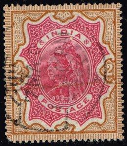 India #50 Queen Victoria; Used (4Stars)