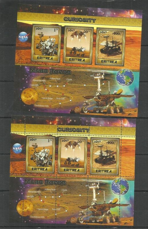 2pcs Space Transport Mars Rover Perf. + Imperf. 2017 - (pr.issue) / W56