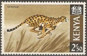 1966 Kenya Scott 32 Cheetah MNH