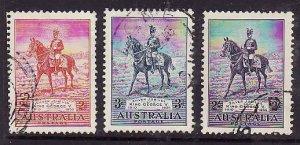 Australia-Sc#152-4- id5-used KGV Silver Jubilee set-1935-Horses-
