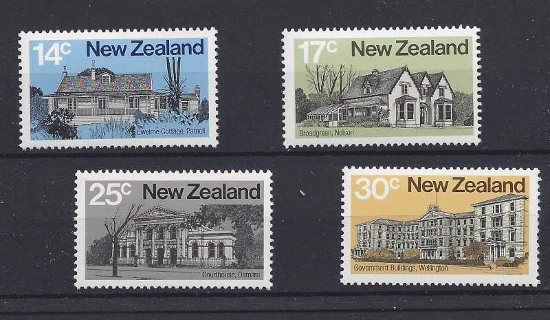 New Zealand, 707-10, Early NZ Architecture Singles,**MNH**