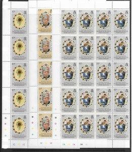 Falkland Is. 1L59-61 Princes Di MNH cpl. set  x 20 vf, 2022 CV $29.00