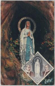 48309 MAXIMUM CARD  - RELIGION - MONACO 1958