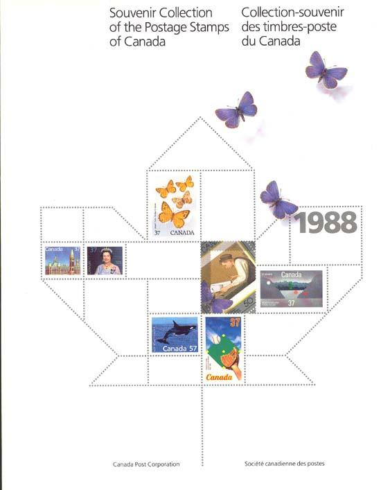 Annual Souvenir Collection The Postage Stamps of Canada 1988 USC #AC31 Cat. C$45