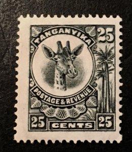 Tanganyika Scott 17 Giraffe Definitive 25 Cent-HR