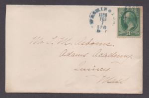 **US 19th Century Cover, Washington, DC 2/7/1880 Dark Blue CDS + Early M/C