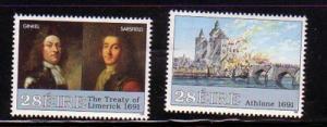Ireland Sc 834-5 1991 Williamite Wars stamp set mint NH