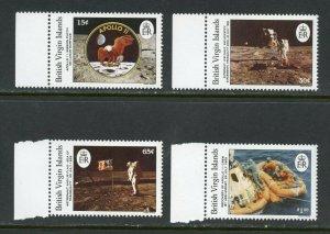 BRITISH VIRGIN ISLAND APOLLO 11 20th ANNIVERSARY OF THE MOON LANDING SET MINT NH