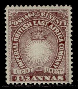 BRITISH EAST AFRICA QV SG11a, 4½a brown-purple, LH MINT. Cat £2.5.