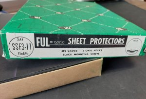 FUL-VU SHEET PROTECTORS - Lot of 40 never used measures 8 1/2 x 11 inches,
