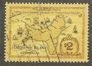 Christmas  Island      Scott  357  Naming of Island     Used