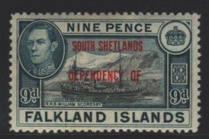 Falkland Islands Sc#5L7 MH - tan gum, couple spots on gum