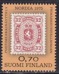 Finland # 571, Nordia 75, Stamp on Stamp, NH, 1/2 Cat.