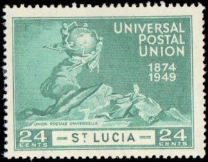 1949 St. Lucia #131-134, Complete Set(4), Hinged