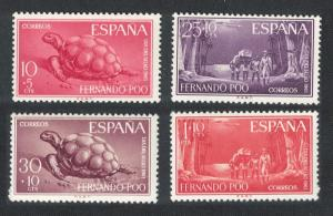 Fernando Po Turtle Native Porters Stamp Day 4v SG#244-247