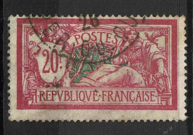 France SC# 132, Used, some toning, two minor corner creases, see notes - S5019