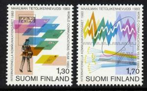 Finland 677-8 MNH World Communications Year, Postal Services, Optical Cables