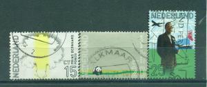 Netherlands sc# 490-492 used cat value $2.50