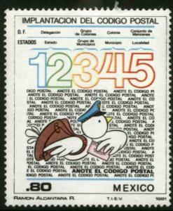 MEXICO 1259, Inauguration zip codes (Codigo Postal) MINT, NH. F-VF.