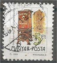 HUNGARY, 1990, used 5fo, Mailbox, Scott 3221