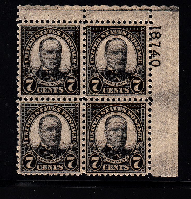 #676 Plate block  VF NH! Free certified shipping.