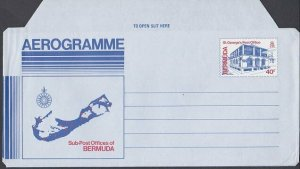 BERMUDA 40c St George's Post Office aerogramme unused.......................K246