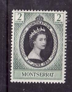 Montserrat-Sc#127-unused NH QEII Coronation set-Omnibus-1953-